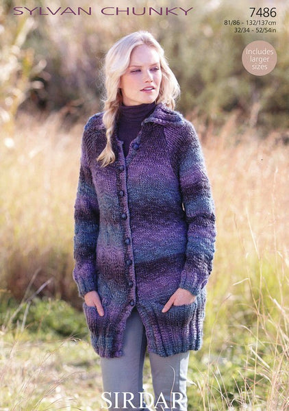 Womens Coat in Sirdar Sylvan Chunky (7486)