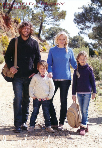 Family Sweaters in Hayfield Chunky Tweed (7493)-Deramores