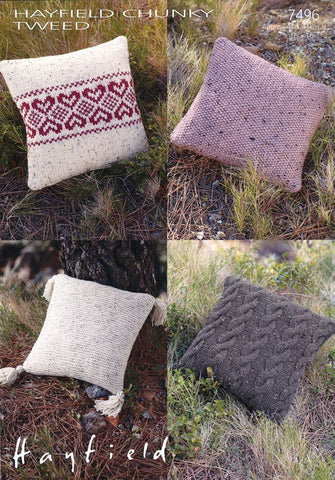 Cushions in Hayfield Chunky Tweed (7496)-Deramores