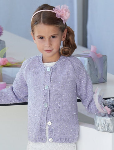 Womens and Girls Cardigans in Sirdar Soukie DK (7517)