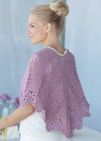 Wrap and Cape in Sirdar Soukie DK (7518)