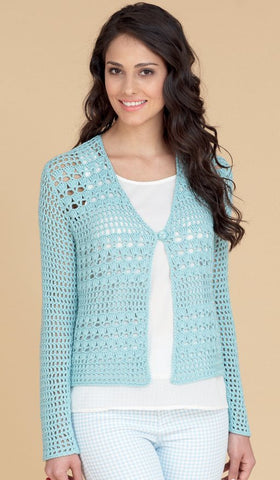 Crocheted Waistcoat and Cardigan in Hayfield Fiesta DK (7715)-Deramores