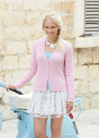 Womens Cardigan in Sirdar Country Style 4 Ply (7727)