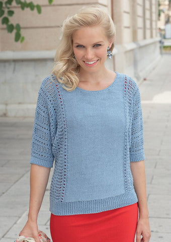 Womens Top in Sirdar Cotton DK (7733)
