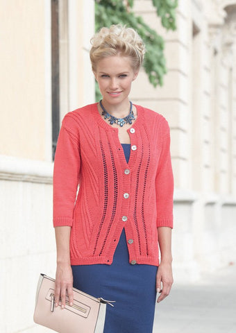 Womens Cardigan in Sirdar Cotton DK (7735)