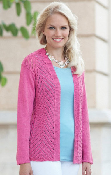 Womens Jacket in Sirdar Cotton 4 Ply (7741)