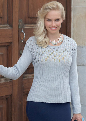 Womens Top in Sirdar Cotton 4 Ply (7743)