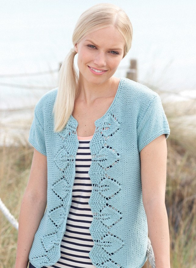 Cardigan in Sirdar Cotton Rich Aran (7752)
