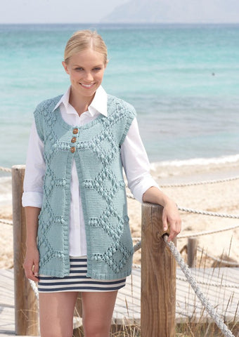 Jacket and Waistcoat in Sirdar Cotton Rich Aran (7754)-Deramores