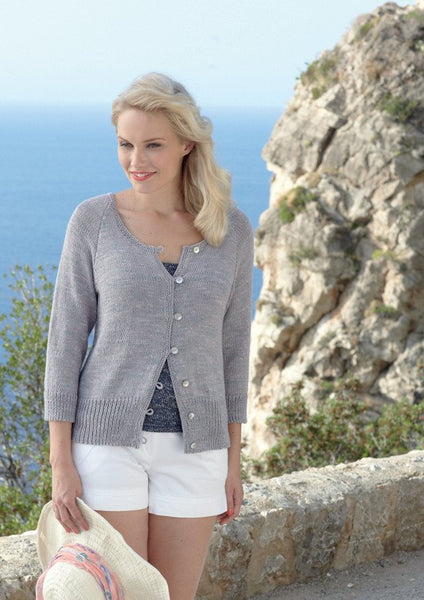 Cardigan and Vests in Sirdar Amalfi DK (7777)-Deramores