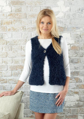 Womens Gilet in Sirdar Touch (7782) - Digital Version
