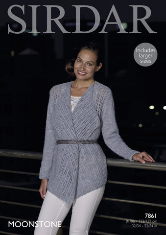 Jacket in Sirdar Moonstone (7861)-Deramores