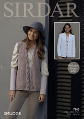 Jacket and Waistcoat in Sirdar Smudge (7865)