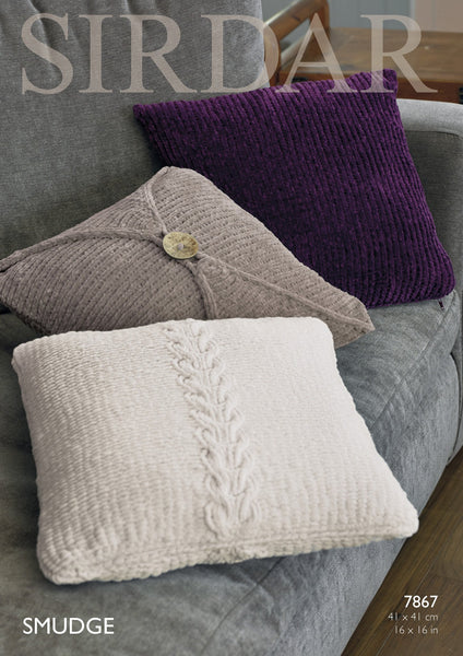 Cushion Covers in Sirdar Smudge (7867)-Deramores