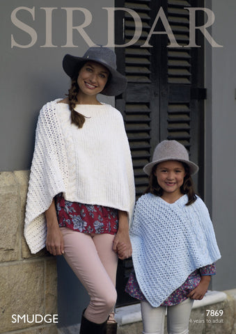 Ponchos in Sirdar Smudge (7869)