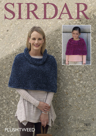 Capes in Sirdar Plushtweed (7875)-Deramores