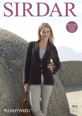 Jacket in Sirdar Plushtweed (7876)-Deramores
