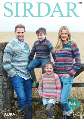 Sweaters in Sirdar Aura (7884)