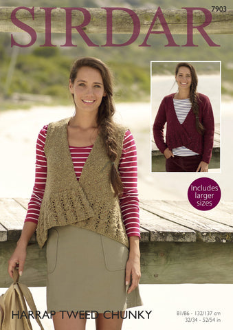 Cardigan and Waistcoat in Sirdar Harrap Tweed Chunky (7903) Digital Version