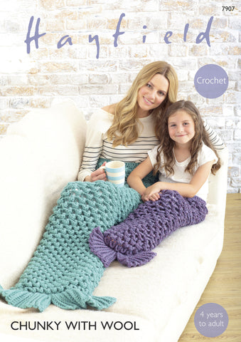 Mermaid Tail in Hayfield Chunky with Wool (7907)