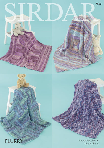 Baby Shawls & Blankets in Sirdar Flurry Chunky (7959) - Digital Version-Deramores