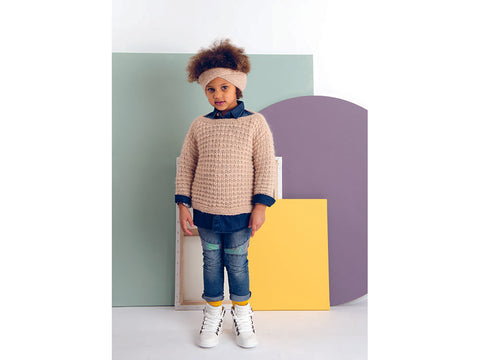 Childrens Sweater, Cardigan and Headband in Rico Design Fashion Daiyamondo (796)