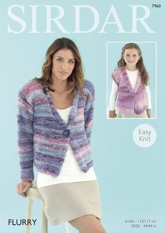 Womens Jacket in Sirdar Flurry Chunky (7960) - Digital Version