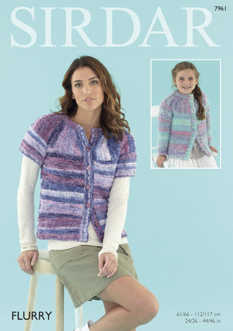 Womens Cardigan in Sirdar Flurry Chunky (7961) - Digital Version