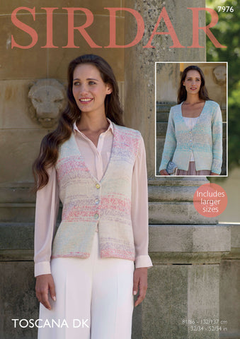 Cardigan and Waistcoat in Sirdar Toscana DK (7976) - Digital Version-Deramores