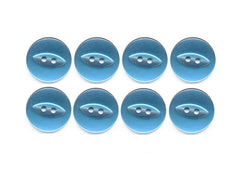 Fish-Eye Buttons - Blue - 70