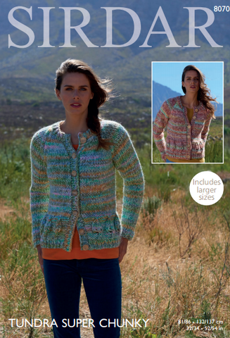 Cardigans in Sirdar Tundra Super Chunky (8070)