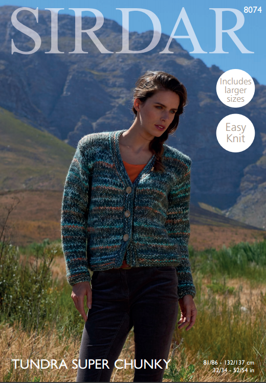 8dc2395ebe4c Woman s Cardigan in Sirdar Tundra Super Chunky (8074). Tap to expand