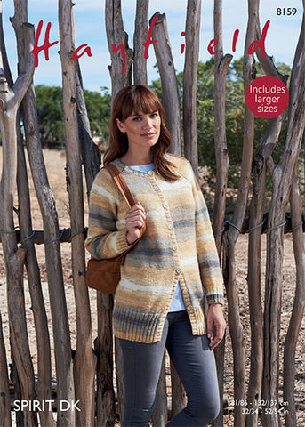 Womans Jacket in Hayfield Spirit DK (8159)