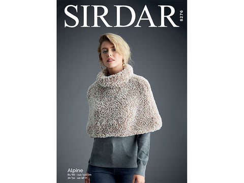 Shoulder Cape in Sirdar Alpine  (8276)