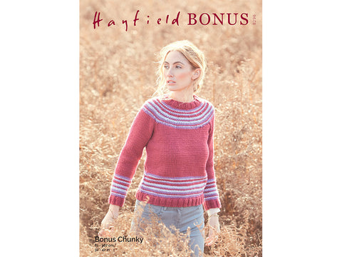 Yoke Sweater in Hayfield Bonus Chunky (8296)