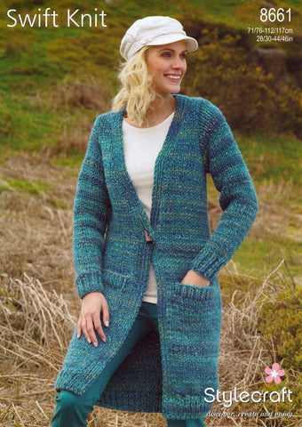 Jacket in Stylecraft Swift Knit Super Chunky (8661)-Deramores