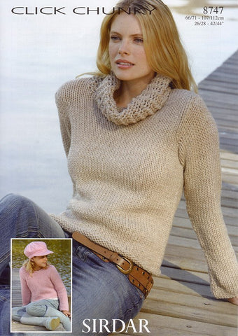 Sweaters in Sirdar Click Chunky (8747)