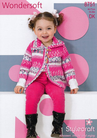 Jackets in Stylecraft Wondersoft DK (8751)-Deramores