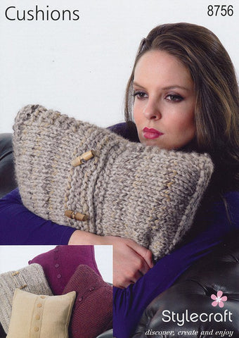Cushions in Stylecraft DK, Chunky and Super Chunky (8756)-Deramores