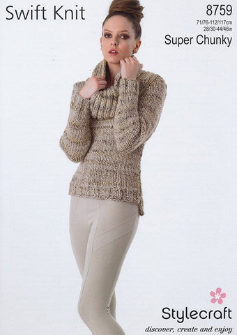 Sweater in Stylecraft Swift Knit Super Chunky (8759)