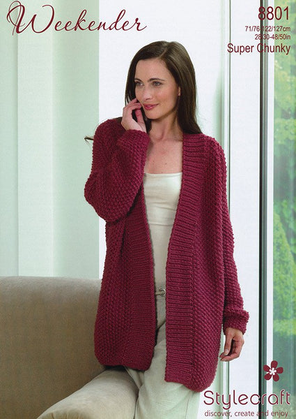 Jacket In Stylecraft Weekender (8801)-Deramores