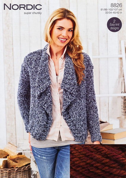 Stylecraft Nordic Super Chunky Cardigan Pack – Ember