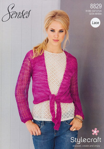 Cardigans in Stylecraft Senses (8829)-Deramores