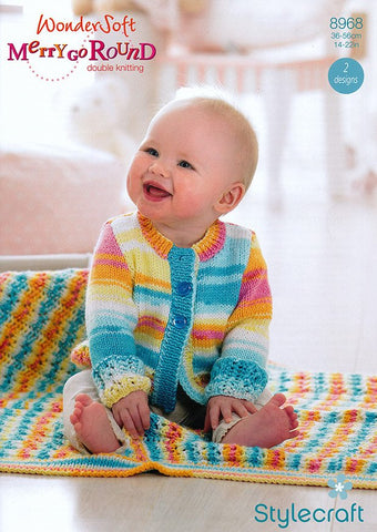 Cardigan and Blanket in Stylecraft Wondersoft Merry Go Round DK (8968)-Deramores