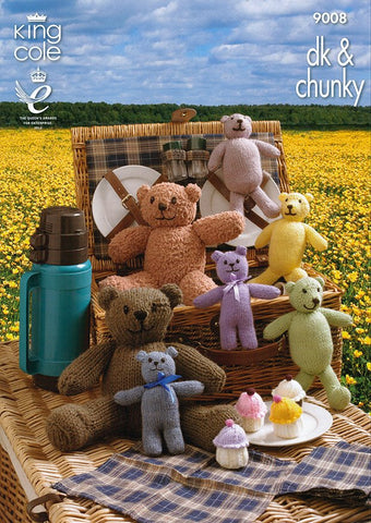 Teddy Bear's Picnic in King Cole DK and Chunky (9008)
