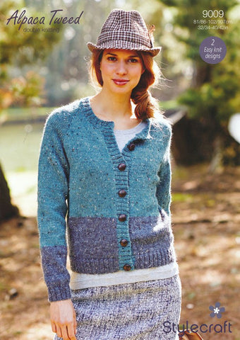 Cardigan and Sweater in Stylecraft Alpaca Tweed DK (9009)-Deramores