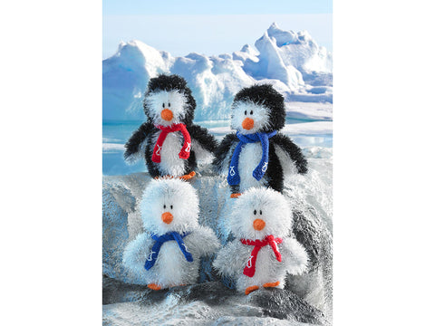 Tinsel Chunky Penguins in King Cole Tinsel Chunky (9025K)