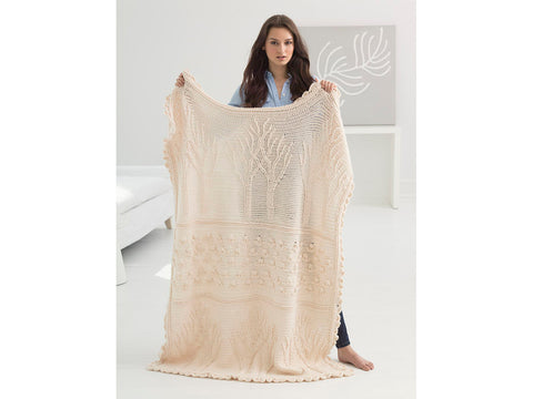 Tree of Life Afghan (Crochet) in Lion Brand Wool-Ease (90360AD)