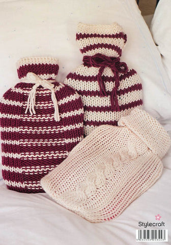 Hot Water Bottle Covers in Stylecraft Weekender Super Chunky (9042)-Deramores