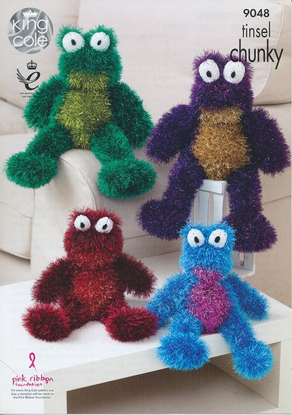 Tinsel Frogs in King Cole Tinsel Chunky (9048)